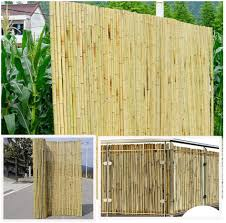 Amazon Com Gdming Bamboo Fence Panels Balcony Privacy Screen Outdoor Windscreen Sunscreen Weatherproof Decoration Roller For Garden Deck Backyard 15 Sizes Color Natural Size 1 4x2m Garden Outdoor