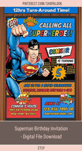 Superman Invitation Superman Invite Superman Birthday Invitation Superman Birthday Party Superman Digital File Download Afflink Partyide Con Imagenes Cumpleanos Fiesta