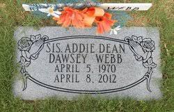 Addie Dean Dawsey Webb (1970-2012) - Find A Grave Memorial