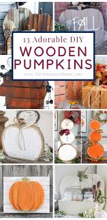13 Adorable Wooden Pumpkins For Any Budget The Turquoise Home