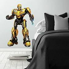 Roommates Transformers Bumblebee Peel And Stick Giant Wall Decal Amazon Com