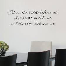 Wall Quote Decal Bless The Food Family Love Kitchen Dining Etsy