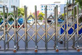 Stainless Steel Barrier Gate Or Folding Fence Gate Stock Photo Image Of Block Automatic 167641180