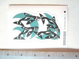 First Nation Native Pacific West Coast Orca Killer Whale Vinyl Sticker Decal Art Ebay