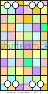 vector stained glass window squares