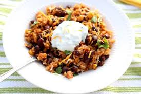 slow cooker santa fe beans and rice