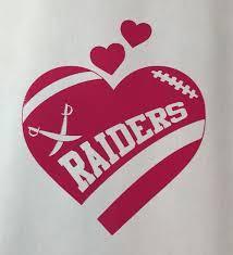 Oakland Raiders Football Heart Vinyl Car Decal Bumper Etsy