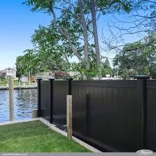 Black Pvc Vinyl Privacy Fencing Panels Illusions Fence Backyard Fences Fence Design Vinyl Fence