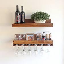 wine rack shelf hanging stemware
