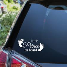 Swirl Nanny Grandads Little Prince On Board Non Personalised Novelty Baby On Board Car Window Sign Like Baby On Board Sign Gifts Merchandise Baby Car Stickers