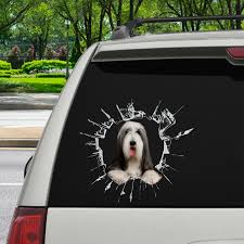 Get In It S Time For Shopping Bearded Collie Car Sticker V1 Follus Com