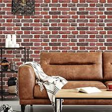Amazon Com Roommates Red Brick Peel And Stick Giant Wall Decals Home Improvement