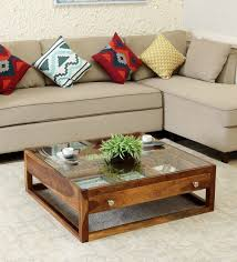 argos solid wood coffee table in
