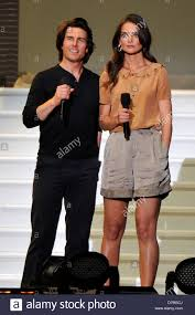 Tom Cruise and Katie Holmes during