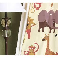 Beige Cute Custom Elephant Curtains For Kids Room