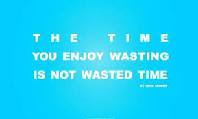 akhuratha time you enjoy wasting is not wasted time quote wall