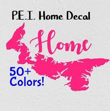 Pei Home Car Decal Province Decal Prince Edward Island Pride Etsy In 2020 Custom Monogram Decal Family Monogram Wall Decal Monogram Wall Decals