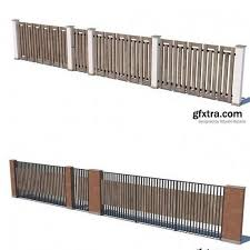 Gfx Modern Fence Collection Vr Ar Low Poly 3d Model 3d Models Blog