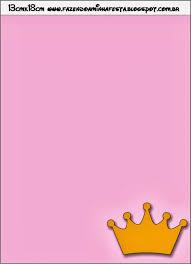 Coronas En Fondo Rosa Invitaciones Para Imprimir Gratis Ideas