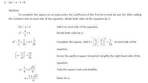 solving quadratic equation by