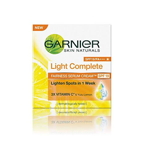 Image result for Garnier Skin Naturals Light Complete Serum Cream SPF 19:""