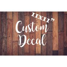 Custom Decal 11x11 Inch Custom Sticker Personalized Etsy
