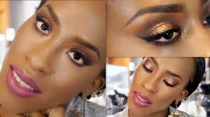 bronze smokey eye makeup tutorial for