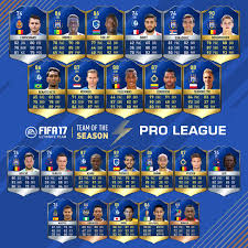 FIFA 17 Pro League TOTS - FUT Belgium League Team of the Season