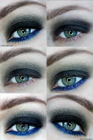 dark smoky fall eyes with a pop of blue
