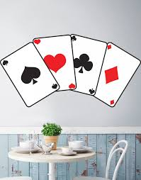 Casino Poker Cards Printed Graphic Decal Sticker Peel And Stick Jh280p Stickerbrand