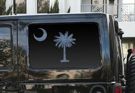 State Of Hawaii Flag Design Decals In Matte Black For Side Windows Toyota 4runner Tf24 A