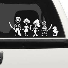 Pirate Family Family Car Stickers The Decal Guru