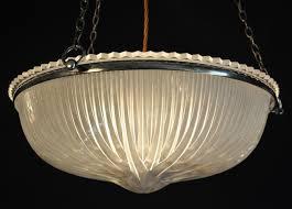 for large antique holophane shade