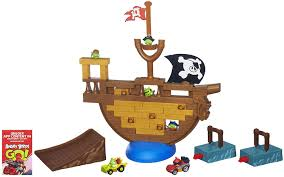Amazon.com: Angry Birds Go! Jenga Pirate Pig Attack Game: Toys & Games