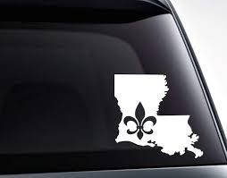 Louisiana Fleur De Lis Mardi Gras Vinyl Decal Sticker