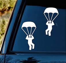 Amazon Com Best Design Amazing Skydiving Parachute Decal Sticker For Car Window 6 0 Inch And Stick Decals Made In Usa Kitchen Dining