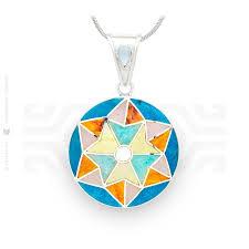 andean star pendant intika handmade