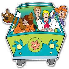Scooby Doo Minivan Vynil Car Sticker 4 X 4 Michael J Carrollez
