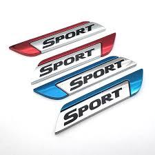2pcs 23metal Car Model Sport Edition Car Badge Flank Logo Sticker Decal Wish