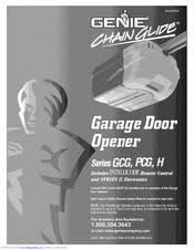 genie series gcg owner s manual pdf