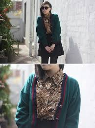 Ivy Robinson - Thrifted Cardigan, Thrifted Leopard Shirt, Diy ...