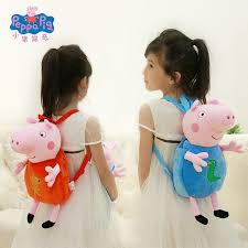 ✳Piggy page Schoolbag kindergarten Peggy George child baby | Shopee  Philippines