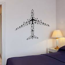 Airplane Flight Airport Aircraft Travel Wall Vinyl Sticker Decal Ig3073 Ebay