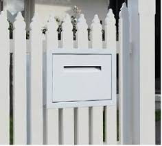 Fence Wall Letterbox Accepts Parcels Jpg Letter Box Mailbox Landscaping Fence Design