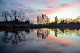 reflection water nature landscape