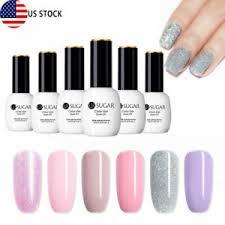 6pcs 15ml uv gel nail polish set pinky
