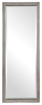 diamond silver full length mirror