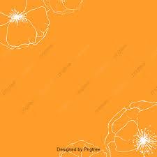 حافة خلفية برتقالية بخطوط زهور بيضاء التطريز الخلفية لون