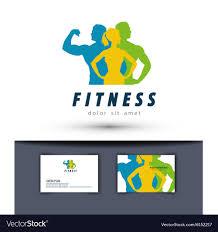gym logo design template fitness or