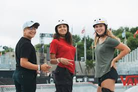 From left to right, skateboarders Alana Smith, Spencer Breaux, and | 7  Badass Female Skateboarders on the Olympics, Their Favorite Tricks, and  Empowering Young Women | POPSUGAR Fitness Photo 15